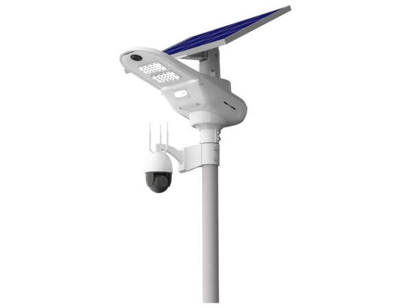 Lampa solarna z kamerą