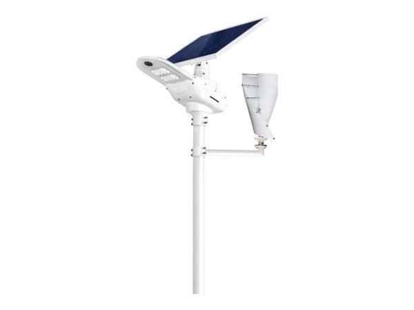 Lampa solarna z turbiną wiatrową